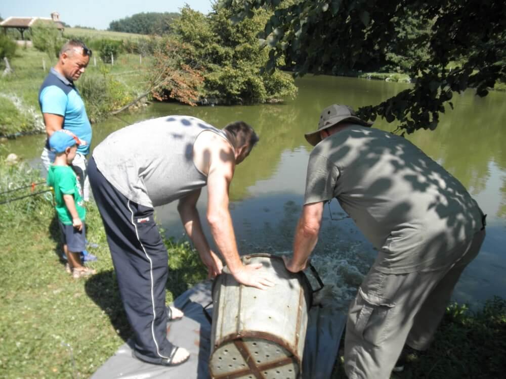 Poribljavanje umjetnih jezera ZŠRDUB 10. i 13. kolovoza 2019. godine s 1.930 kg ribe šaran