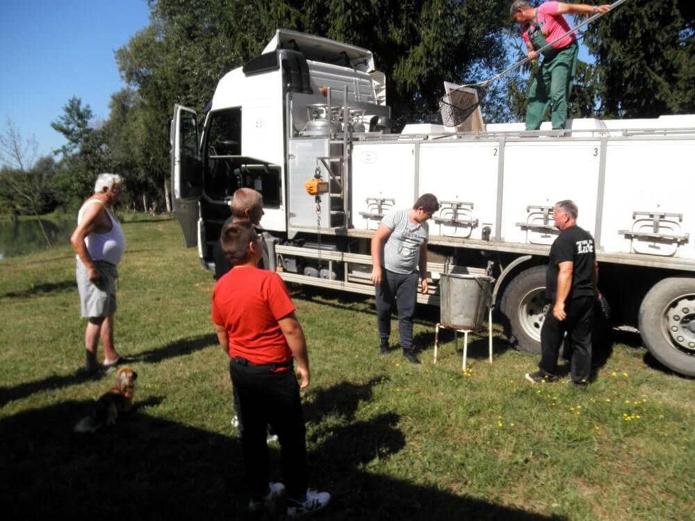 Poribljavanje umjetnih jezera ZŠRDUB 4. rujna 2019. godine sa 750 kg ribe šaran